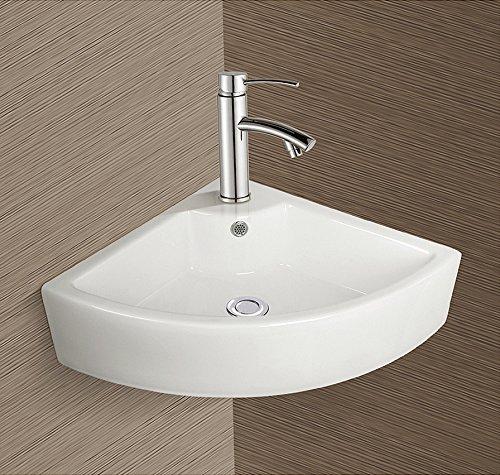 Burgtal 17803 Design Keramik Wandmontage Eckwaschbecken Handwaschbecken BKW-27