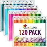 Buntstifte Set (120er Pack) von Zenacolor - Hochwertige Kunst-Buntstifte für Kinder und Erwachsene, Künstler und Skizzenzeichner - Perfekt zum Zeichen und Buntmalen in Hobby, Beruf, Schulprojekten und mehr