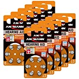 ANSMANN Hörgerätebatterien 13 Orange Testsieger 60 Stück - Zink Luft Hörgeräte Batterien Typ 13 P13 ZL2 PR48 mit 1,4V - Knopfzelle mit Besonders Langer Laufzeit für Hörgerät & Hörverstärker