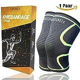 ULIMIT Kniebandage Kompression für Bodybuilding, Joggen und anderen Sport bei Meniskus- und Knieschmerzen für Männer & Frauen bei Kreuz- und Innenbandproblemen - Regeneration des Kniegelenks (L)