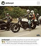 Retro Schwarz Cafe Racer die 'Bonnie' 100% Bovine Leder Motorrad-Jacke CE Armoured–Elfenbein Streifen Gr. xl, Schwarz - Schwarz
