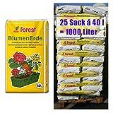 Blumenerde FOREST 25 Sack mit je 40 Liter = 1000 Liter Qualitäts Blumen- & Pflanzerde aus Bayern