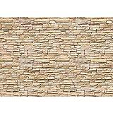 Fototapete 400x280 cm - ALLE TOPSELLER auf einen Blick ! Vlies PREMIUM PLUS - ASIAN STONE WALL No. 2 - NATURAL - Steintapete Wandbild Steinwand Steintapete Asia Stone Asien - no. 142