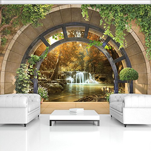 FORWALL Fototapete Vlies - Tapete Moderne Wanddeko Ausblick V8 (368cm. x 254cm.) AMF11553V8 Wandtapete Design Tapete