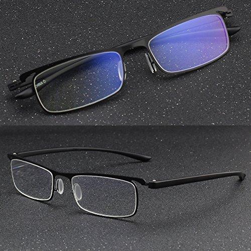 CGID Anti-Blaulicht Lesegerät, Lesebrille mit TR90 Rahmen für Männer und Frauen, QKX001