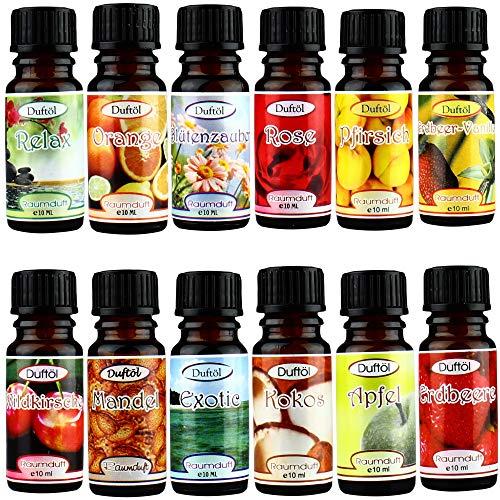 Duftöl für Duftlampen und Diffuser im Set Öle Raumduft Aromaöl entspannung Aromatherapie