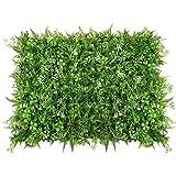 Justdolife Grüne Kunststoffpflanze Dekorative Künstliche Platten Gefälschte Heckenpflanze für Hausgarten Yard Decor