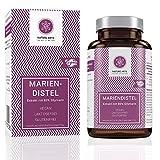 Mariendistel hochdosiert von Nature Arts | 90 Kapseln | Extrakt mit 80% Silymarin aus Mariendistelsamen | frei von Zusätzen wie Gelatine oder Magnesiumstearat | vegan | hergestellt in Deutschland