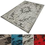 casa pura Vintage Teppich | viele Größen | im angesagten Shabby Chic Look | für Wohnzimmer, Schlafzimmer, Flur etc. | grau (160x230 cm)