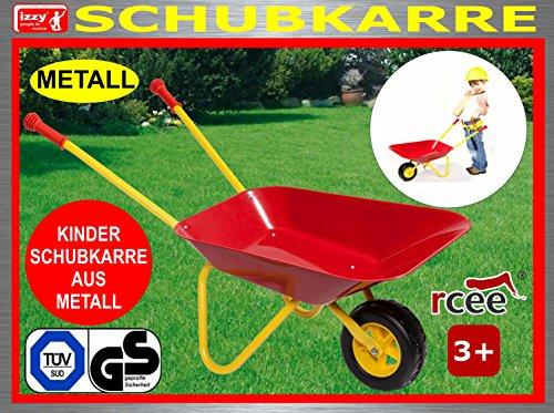 Kinderschubkarre aus Metall mit TÜV/GS, Belastbarkeit bis 35 kg, Maße: 73 cm, Metallschubkarre, Schubkarre, Handwagen