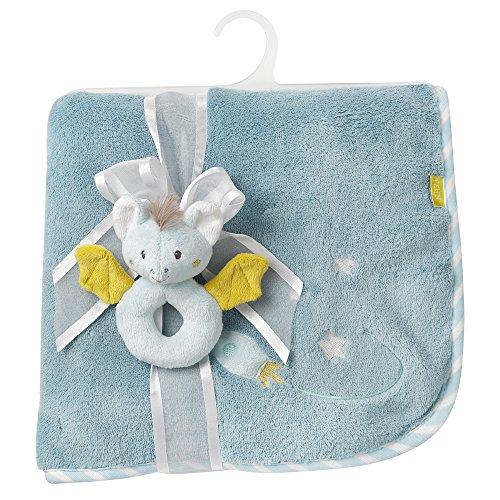 Fehn Kuscheldecke / Kuschelige Schmusedecke für Babys und Kleinkinder ab 0+ Monaten - zum Kuschen, als Krabbelunterlage oder Schnuffeltuch, Maße: 100x75cm