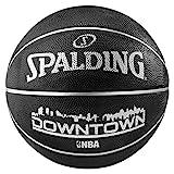 Spalding Ball NBA Downtown Outdoor Basketball, schwarz, 7