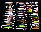 Hengjia Fischköder, 56 Teile, gemischtes Sortiment, 7Modelle, Bitterfisch, Federspiel, Kurbel, Köder, Flaschenzug, Triple, Hakenset 1,6–9,1g.