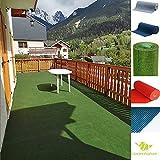 Rasenteppich Kunstrasen mit Noppen, Größe Auswählen   Außen Teppich   Für Garten, Terrasse, Balkon etc…   MadeInNature (400 x 200 cm, Grün)