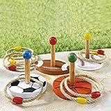 Ring-Wurfspiel , Freizeitspaß Gartenspiel mit Ringen zielen