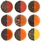 Schwarzer Tee Loose Leaf Sampler - 10 TEE,50 PORTIONEN -10 exklusive schwarze Teeblätter - Einzeln verpackte Zipptaschen - Single Region Black Teas, aromatisierte schwarze Tees, verpackt an der Quelle