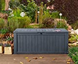 Koll Living Auflagenbox / Kissenbox Koll Living 570 Liter l 100% Wasserdicht l mit Belüftung dadurch kein übler Geruch / Schimmel l Moderne Holzoptik l Deckel belastbar bis 250 KG ( 2 Personen )