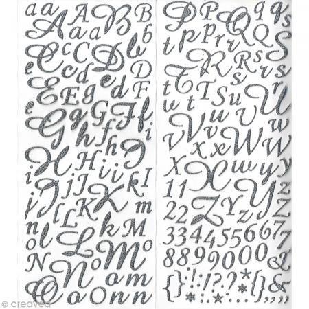 Artemio Artémio Alphabet Glitter-Sticker Silber 177 Doppelseitige, Selbstklebende Buchstaben, Glas, One Size