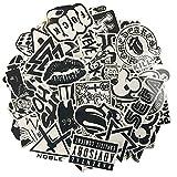 120 Stück schwarzer weißer Vinylaufkleber Graffiti-Abziehbild Vervollkommnen Sie zu den Laptops, Skateboards, Gepäck, Autos, Stoßdämpfer, Fahrräder, Motorrad, Sturzhelm, Fenster, Gitarre, Snowboard, Mobiltelefon