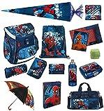 Spiderman Schulranzen Set 21tlg. Scooli Campus Up mit Sporttasche Regenschirm Schultüte 85cm SPON8252-GR
