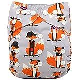 Ohbabyka verstellbare unisex Stoffwindel für Babys mit 1 Stück Verloureinlage und Tasche für Einsatz
