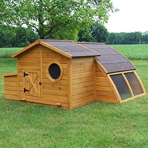 Zooprimus Hühnerstall 146 Geflügelhaus - SCHWEDEN - Stall für Außenbereich (für Kleintiere: Hühner, Geflügel, Vögel, Enten usw.)
