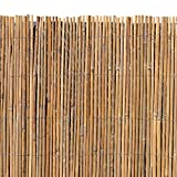 Estexo Bambusmatte - Sichtschutzzaun, Gartenzaun, Natur, Bambus, Zaun, Sichtschutz, Windschutz (1,00m x 4,00m)