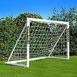 Net World Sports Forza 1,8m x 1,2m Fußballtor - Dieses Tor kann das ganze Jahr über bei jedem Wetter draußen gelassen Werden