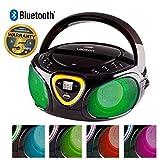 Lauson CP452 CD-Radio Bluetooth Tragbar mit LED-Effekt (USB, AM/FM)