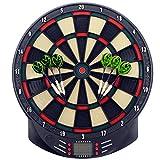 MCTECH Profi Elektronische Dartscheibe Dartboard Dartona Soft-Dartpfeile Steeldart 6 Dartfeile + 70 Varianten (type A)