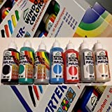 H&S Window Color Farben 80ml 7er Starter Set Glitzerfarben