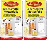Aeroxon Lebensmittelmottenfalle mit Pheromonen - Zweierpack = 4 Stück