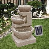 Solarspringbrunnen Solarbrunnen Eden Garten Brunnen Kaskade Komplettset für Garten und Terrasse Tag und Nacht ! NEU