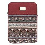 Feisman 11-12 Zoll wasserdicht Leinwand Laptop Schutzhülle Tablet Tasche für MacBook Air 11,6-Zoll / neu Macbook 12 '/ Oberfläche Pro 4,3 / Chromebook Notebook Tasche -(Rot)