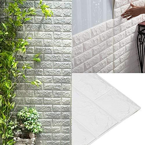 AllRight 10 TLG 3D Tapete Selbstklebend Steinoptik Wandpaneele Ziegelstein Wandaufkleber