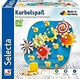 Selecta 62011 Kurbelspaß, Motorikspielzeug aus Holz, 20, 5 cm