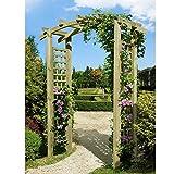 Eingangspergola 160x62x220 cm Pergola aus Holz mit Rankelementen von Gartenpirat