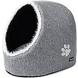 Katzenhöhle & Hundebett, Hundekörbchen von PetPäl | DIE Perfekte Kuschelhöhle für kleine Hunde & Katzen | Ideale Korb Höhle für Drinnen | Bestens als Katzenkorb, Katzenbettchen zum Schlafen | Auch für Große Katzen