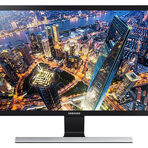 Samsung U28E590D 71,12 cm (28 Zoll) Monitor (HDMI, 1 ms Reaktionszeit, 60 Hz Aktualisierungsrate, 3840 x 2160 Pixel) schwarz/silber