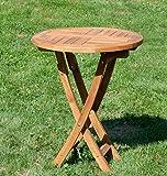 ASS ECHT TEAK Holz Klapptisch Holztisch Gartentisch Tisch in verschiedenen Größen von Größe:RUND Ø 60 cm