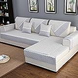HM&DX Anti-rutsch Sofa Abdeckung Für Sektionaltore Couch Baumwolle Polyester Gesteppter Sofa Überwurf Multi-Size Sofahusse Für Wohnzimmer-grau 70x70cm(28x28inch)