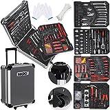 Masko 969 tlg Werkzeugkoffer Werkzeugkasten Werkzeugkiste Werkzeug Trolley  Profi  969 Teile  Qualitätswerkzeug (Black/Anthrazit)