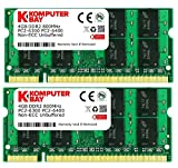 Komputerbay 8GB (2x 4GB) PC2-6400 DDR2 800MHz SODIMM Dual Channel Laptop-Speicher-Kit