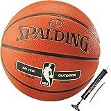 Spalding Basketball für Kinder & Erwachsene Outdoor Street Ball Größe 3 5 6 7 (6 mit Ballpumpe)
