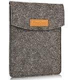 ProCase 6-Zoll-Hülsen-Koffer-Tasche, Tragbarer Filz Tragebeutel Schutzhülle für 5-6' Zoll Tablette Smartphone E-Reader E-Book -Schwarz