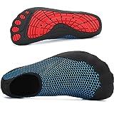katliu Herren Badeschuhe Schwimmschuhe Damen Atmungsaktiv Strandschuhe Water Shoes,Blau 41