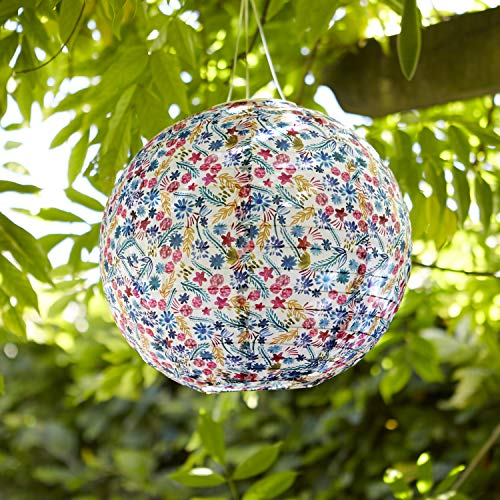 Lights4fun Blumen Solar Lampion 30cm