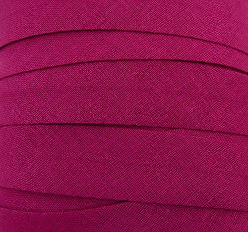 Schrägband / Textilband - Blende 'Brombeer' 20 mm / Baumwolle (10 Meter)