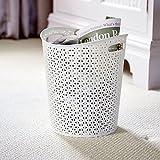 Curver My Style Papierkorb/Mülleimer, Inhalt: 13Liter,für die Küche, das Büro oder Schlafzimmer, weiß