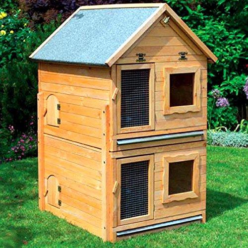 Kleintiervilla MAXI mit Erweiterungsstall 91x70x56 cm Stall Kaninchenstall